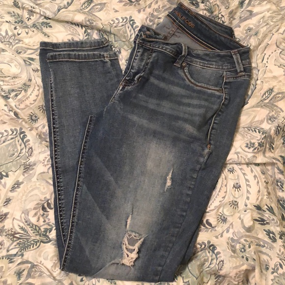 faf88cf8a Maurices Jeggings - Medium wash with distressing